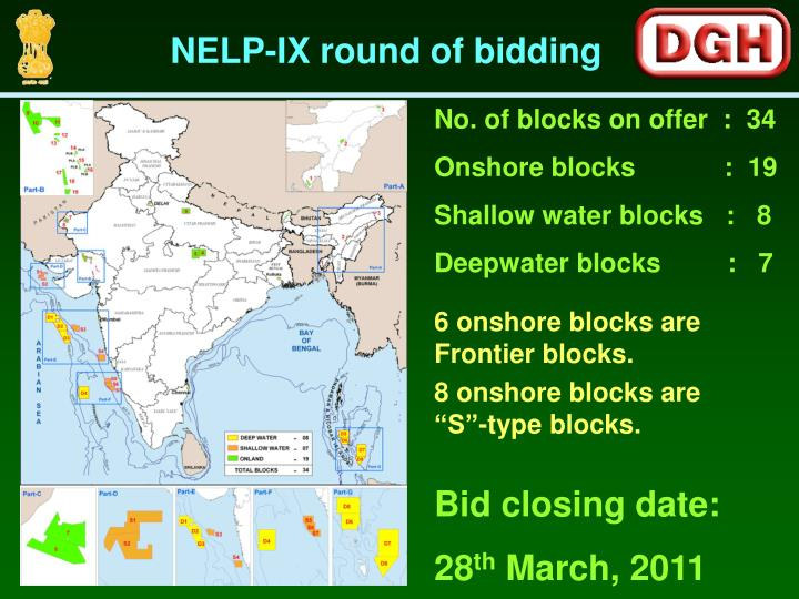 NELP-IX round of bidding