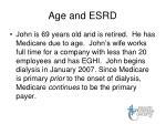 age and esrd