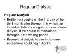 regular dialysis