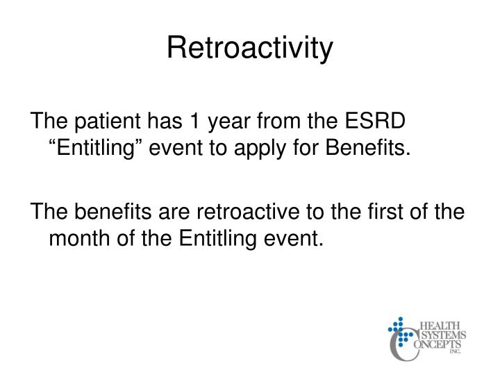 Retroactivity