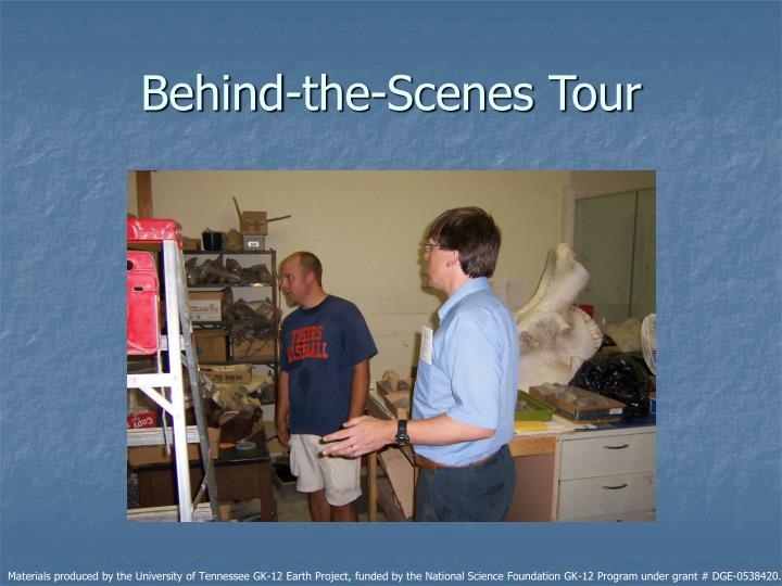 Behind-the-Scenes Tour