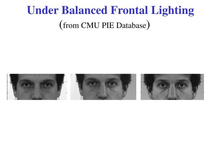 Under Balanced Frontal Lighting