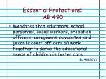 essential protections ab 490
