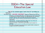 idea the special education law