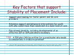 key factors that support stability of placement include