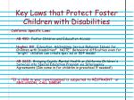 key laws that protect foster children with disabilities
