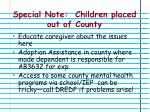 special note children placed out of county
