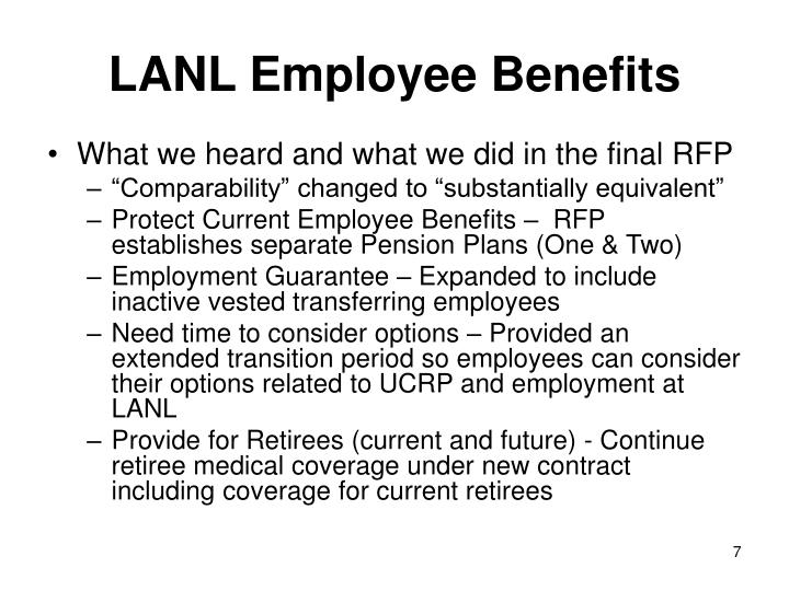 LANL Employee Benefits