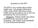 questions on the rfp5
