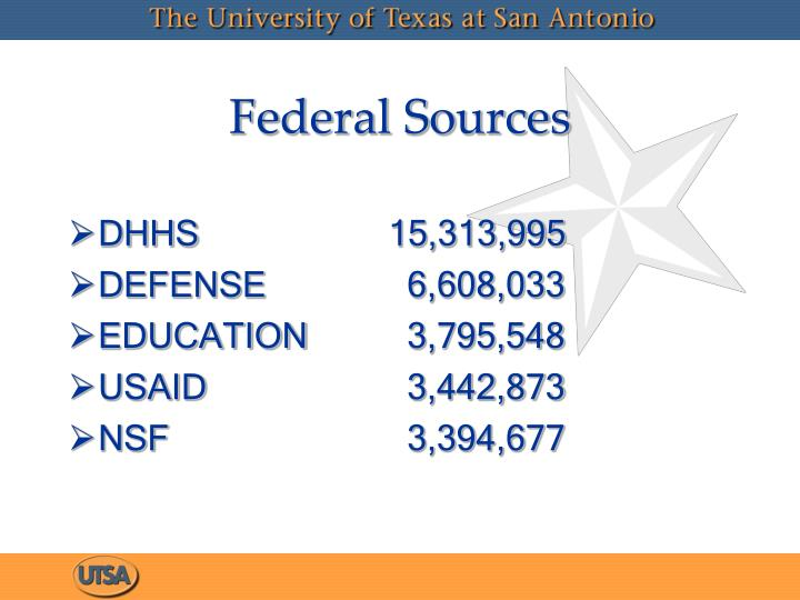 Federal Sources