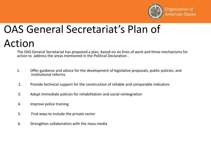 OAS General Secretariat's Plan of Action