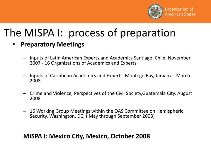The mispa i process of preparation
