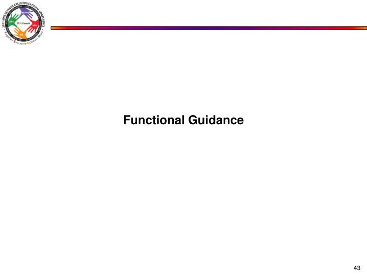 Functional Guidance