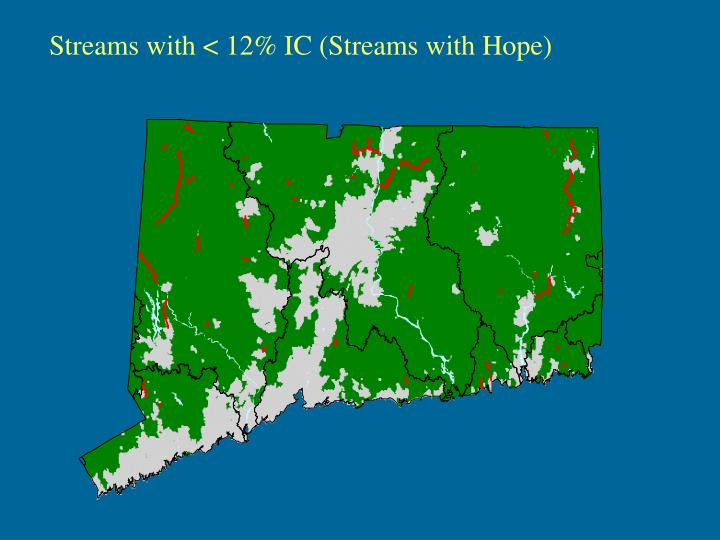 Streams with < 12% IC (Streams with Hope)