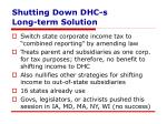 shutting down dhc s long term solution