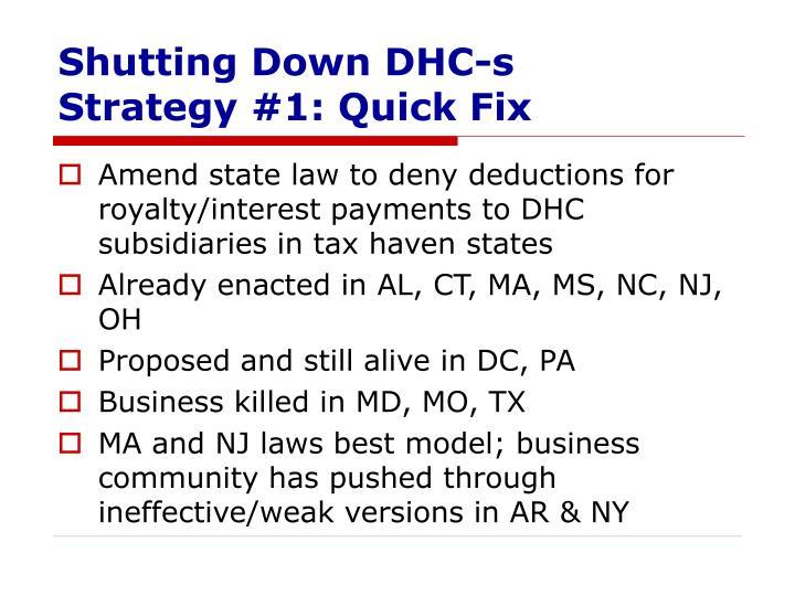 Shutting Down DHC-s