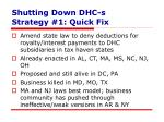 shutting down dhc s strategy 1 quick fix