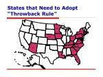 states that need to adopt throwback rule