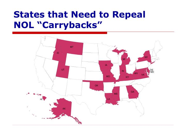 States that Need to Repeal