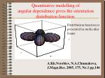 quantitative modelling of angular dependence gives the orientation distribution function