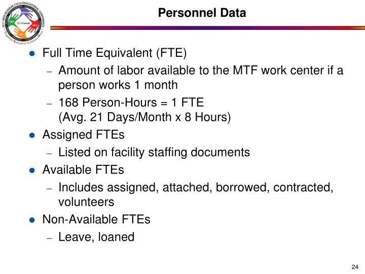Personnel Data