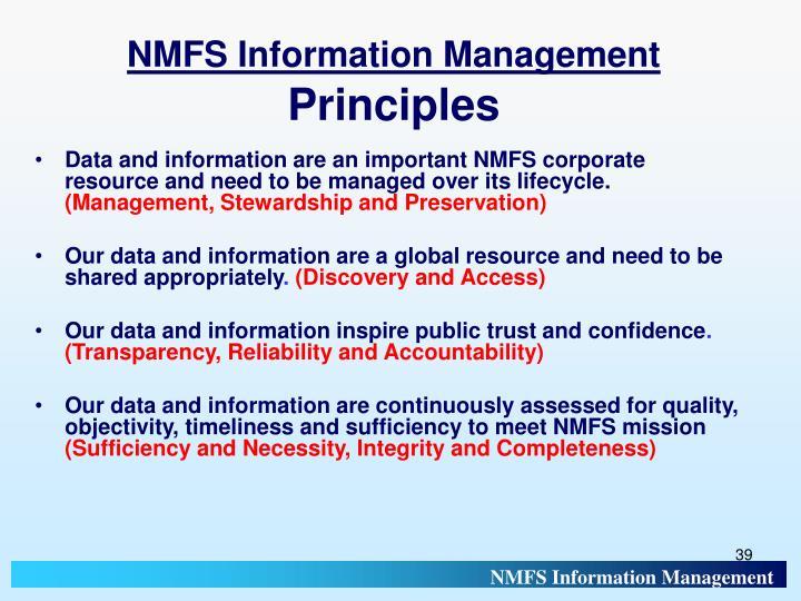 NMFS Information Management