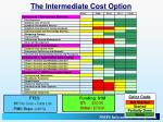 the intermediate cost option