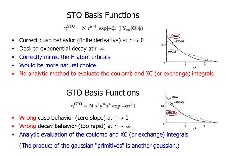 STO Basis Functions