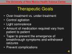 therapeutic goals