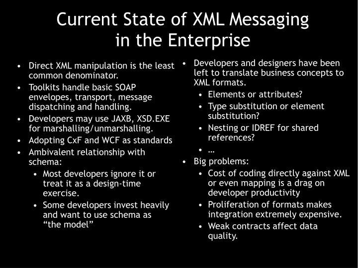 Direct XML manipulation is the least common denominator.