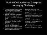 how modex addresses enterprise messaging challenges
