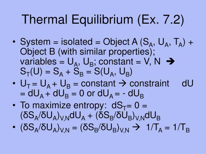 Thermal Equilibrium (Ex. 7.2)