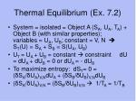 thermal equilibrium ex 7 2