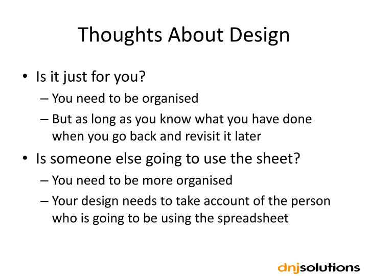 Thoughts About Design