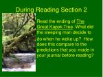 during reading section 2