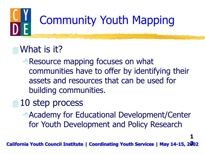 Community Youth Mapping