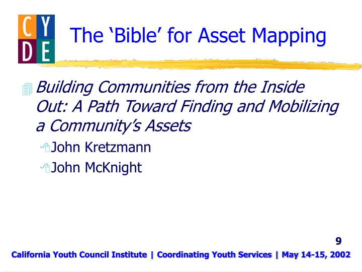 The 'Bible' for Asset Mapping