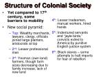 structure of colonial society1