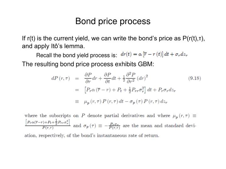 Bond price process