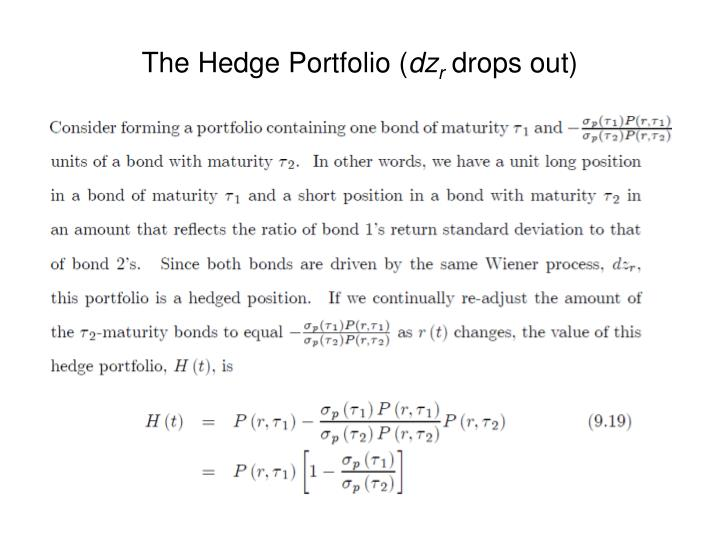 The Hedge Portfolio (
