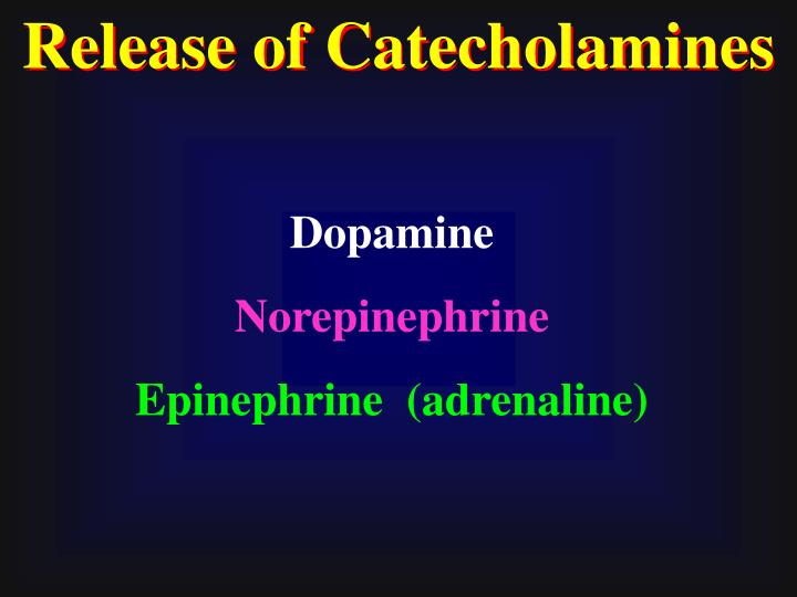 Release of Catecholamines