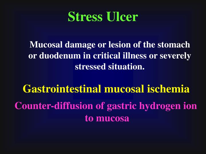 Stress Ulcer