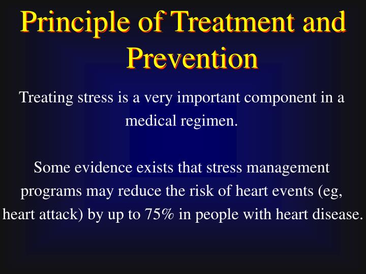Principle of Treatment and Prevention