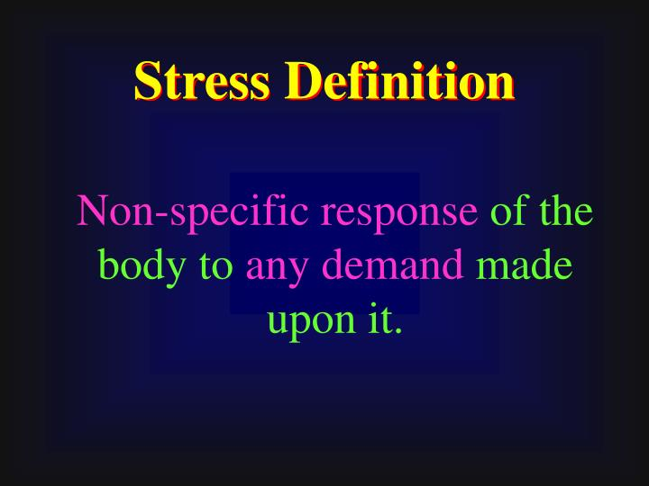 Stress Definition