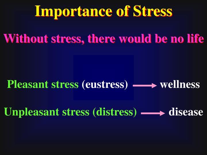 Importance of Stress