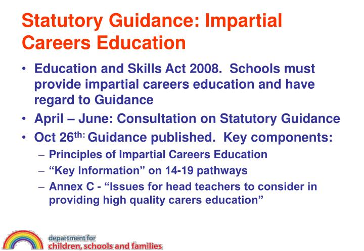 Statutory Guidance: Impartial Careers Education