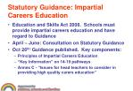 statutory guidance impartial careers education