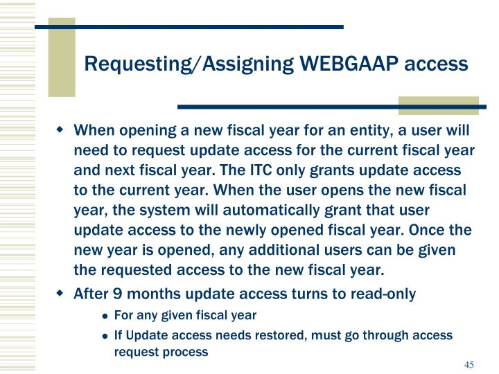 Requesting/Assigning WEBGAAP access