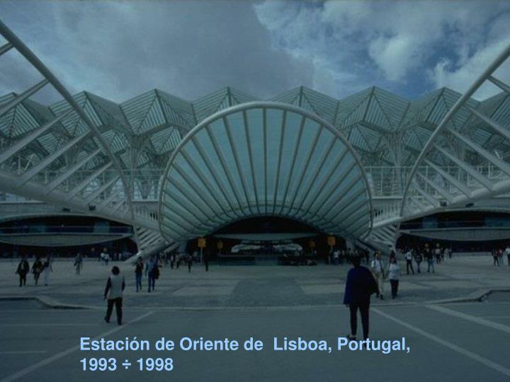 Estación de Oriente de  Lisboa