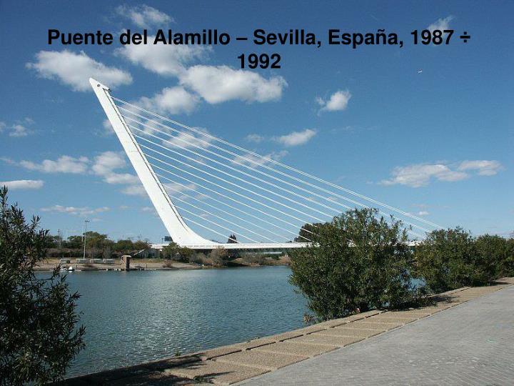 Puente del Alamillo – Sevilla